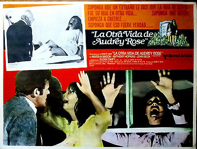 AUDREY ROSE 1977 Horror Sci-FI Mexican Lobby Card SUSAN SWIFT ANTHONY HOPKINS