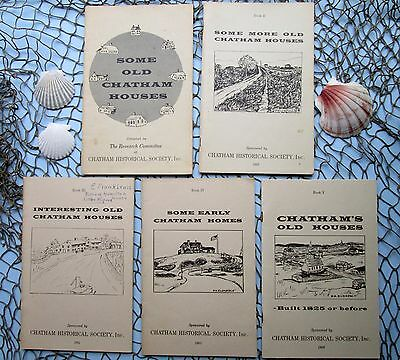 Vintage Lot 5 CHATHAM HISTORICAL SOCIETY CAPE COD 1963-1966 OLD HOUSE BOOKLETS