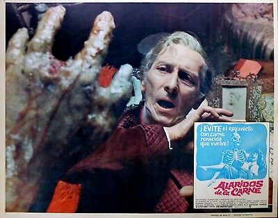 THE CREEPING FLESH 1973 Mexican Horror Lobby Card PETER CUSHING CHRISTOPHER LEE