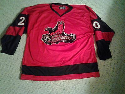 New Mexico Mustangs Game Issued Hockey Jersey 56 NAHL #20 Patrick Anderson