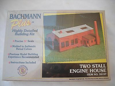 New Bachmann 35157,2 Two Stall Engine House Loco Shed,N Scale Building Model Kit