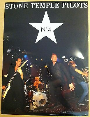 Scott Weiland STONE TEMPLE PILOTS 1999 PROMO POSTER for No. 4 CD Never Display