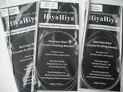 "HiyaHiya Stainless Steel Circular Needle, 2.5mm x 100cm (40"")"