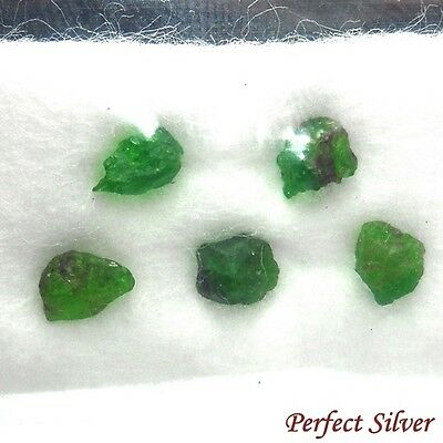1.2 ct. 5 Pcs. 100% Unheated Natural Rough Green Emerald Colombia @ FREE SHIP