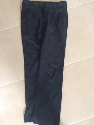 Boys Navy School Pants Size 14
