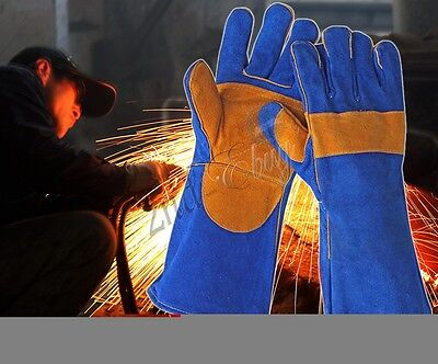 Cowhide Leather Heat-resistant Shield Safety Soldering Brazing Welding Gloves
