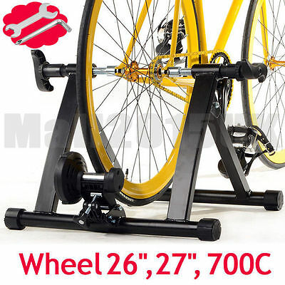 New Folding Indoor Bike Bicycle Magnetic Turbo Trainer Exercise Fitness Training