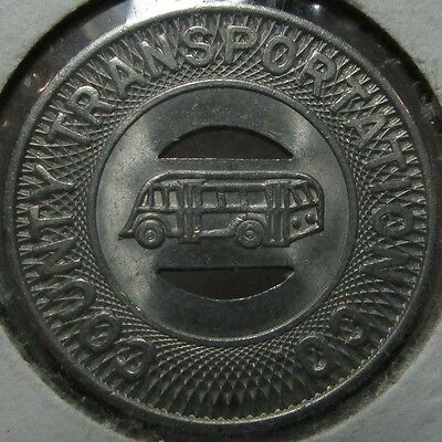 1952 County Transportation Co. Port Chester, NY Transit Bus Token - New York