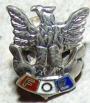 Very Old F.O.E. Fraternal Order of Eagles Sterling Silver Pin
