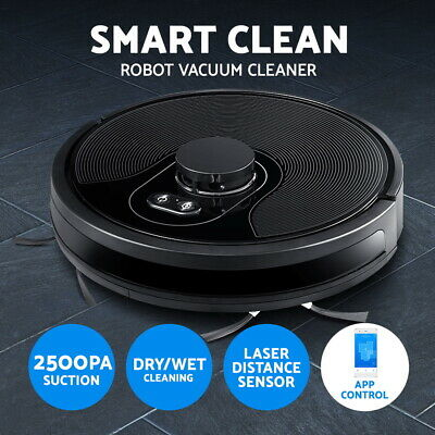 Devanti Automatic Robot Robotic Vacuum Cleaner Dry Wet Mop Floor Carpet Recharge