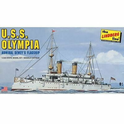 Lindberg Model Kit - USS Olympia Ship - 1:240 Scale - LN402 - New