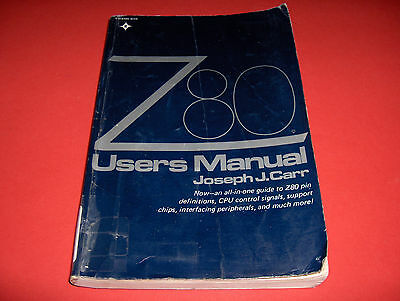 1980 Book Z80 Users Manual Computer Architecture Chips Instruction Interface Etc