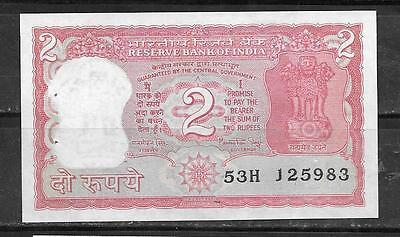 INDIA #53Aa 1984 UNC 2 RUPEES OLD MINT CURRENCY BANKNOTE BILL NOTE PAPER MONEY