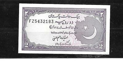 Pakistan #37 1985 Unc Mint Old 2 Rupee Currency Banknote Bill Note Paper Money