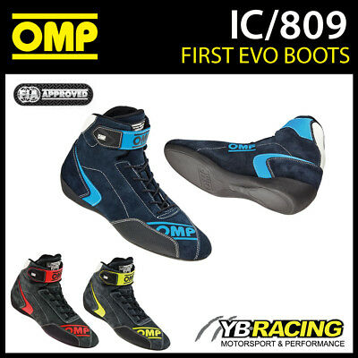 Ic/809 Omp First Evo Racing Rally Boots Shoes Fireproof Fia 8856-2000