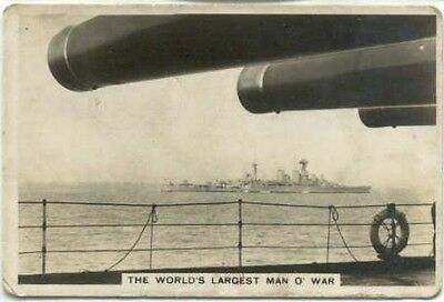 Three cigarette cards - Senior Service, The Navy Series of 48, all HMS Hood