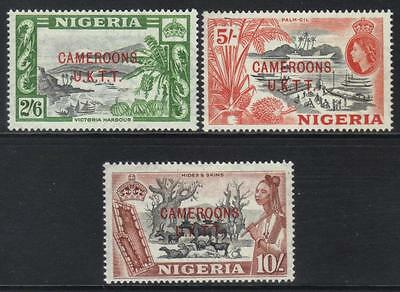 Cameroon 1960-1961 Optd Sgt9-Tii M/m Cat £10+