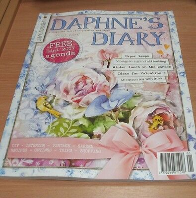 Daphne's Diary magazine #1 2017 Paper Lamps, Valentine's, DIY, Afternoon Tea &