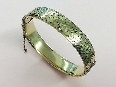 Vintage 1/5Th 9Ct Rolled Gold Bangle 1950