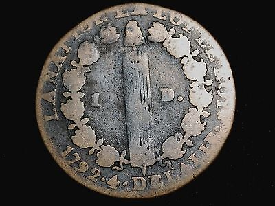 1792 French Revolution 12 Deniers Colonial Coin