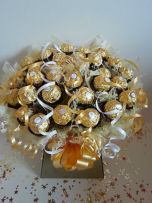 Ferrero Rocher 30 x Chocolate Bouquet Gold Sweet Tree Explosion - Perfect Gift