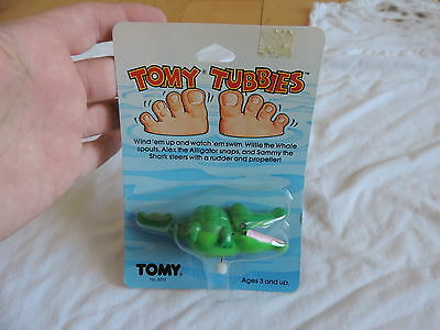 1983 Tomy Tubbies Wind Up ALEX THE ALLIGATOR MOC Tub Toy UNOPEN MINT