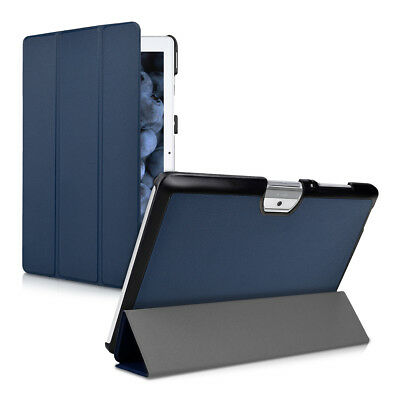 kwmobile SMART COVER FÜR ACER ICONIA ONE 10 (B3-A30) DUNKELBLAU KUNSTLEDER CASE