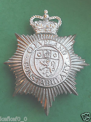 OBSOLETE CLEVELAND CONSTABULARY HELMET PLATE / BADGE - police