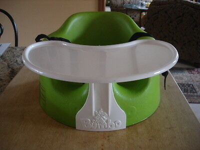 Bumbo Floor Seat With Tray And Safety Straps Green Euc