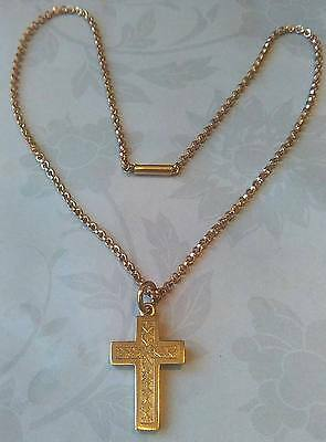 Antique Victorian Rolled Gold Pendant Necklace