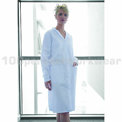 Warrior WC20 Ladies Womens White Polycotton Warehouse Lab Coat Laboratory Smock
