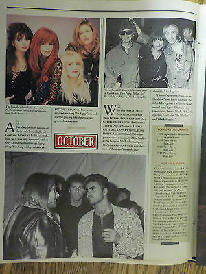 George Michael Rollingstone Mag 1988 Two Page Article & Pics