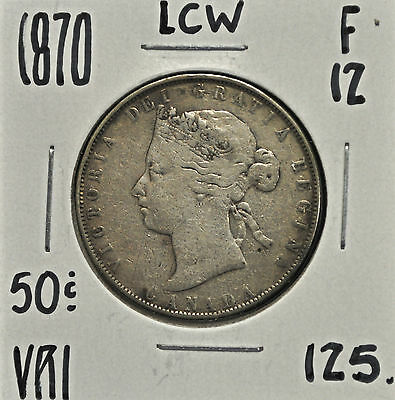 1870 LCW Canada 50 cents F-12
