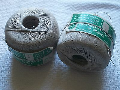 Vintage French Linen Thread Natural/Ecru Large Reel Exc cond