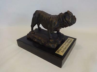 Vintage Lg Bulldog If You Ain't The Lead Dog The View Never Changes Statue Award