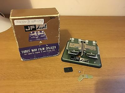 Vintage Boxed JF Dual Three Way Film Splicer For Super 8, Regular 8 & 16mm Film