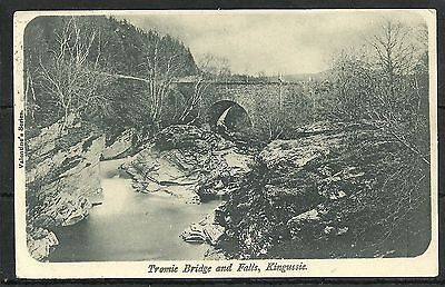 Postcard : Kingussie the Tromie Bridge and Falls, posted 1903