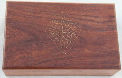 Fantastic wooden celtic chest trinket box