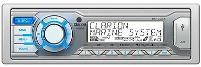 Clarion M205 Marine Digital Media USB/MP3/WMA Stereo Receiver with Remote