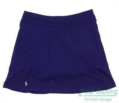 New Womens Ralph Lauren Polo Golf Skort Size Large L Blue MSRP $125
