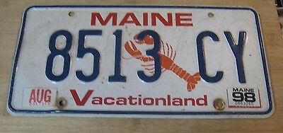 1998 Maine Lobster License Plate Expired 8513 Cy