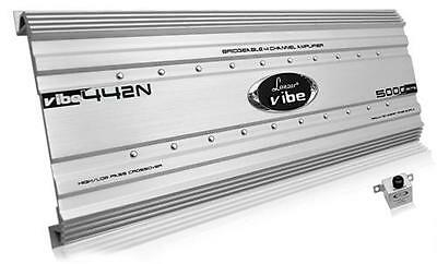 New Silver Lanzar VIBE442N Vibe 5000 Watts 4 Channel MOSFET Car Audio Amplifier
