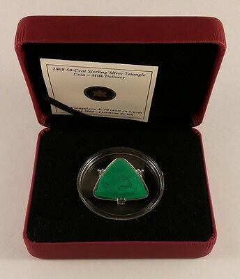 2008 Canada 50-Cent Sterling Silver Triangle Coin - Milk Delivery