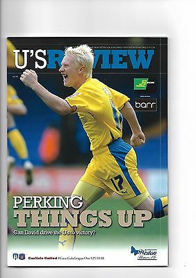 Colchester United  v  Carlisle United, 25th October 2008