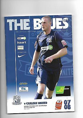 Southend United  v  Carlisle United, 27th October 2007