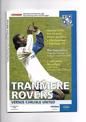 Tranmere Rovers  v  Carlisle United, 26th December 2007