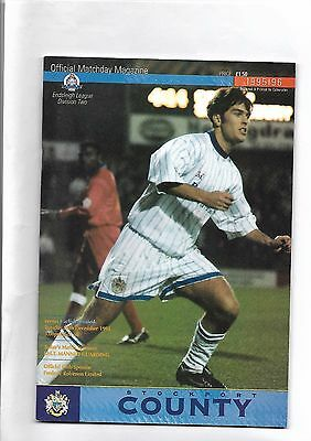 Stockport County  v  Carlisle united, 26th December 1995