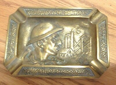 Wwii World War 2 Brass Ashtray Factory Worker France
