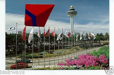 Singapore Changi International Airport Postcard Tower & Entrance Road