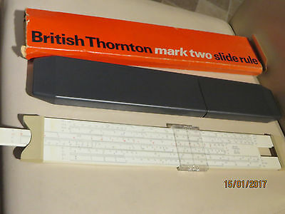 British Thornton Mark Two Slide Rule In Plastic Box
